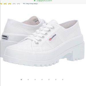 NWT Superga white sneakers